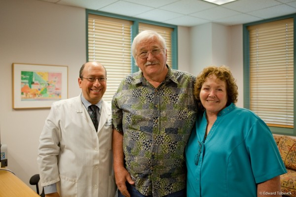 Charlie and Cheryll Giles with Dr. Tobinick at the INR 100 UCLA Medical Plaza July 11, 2013