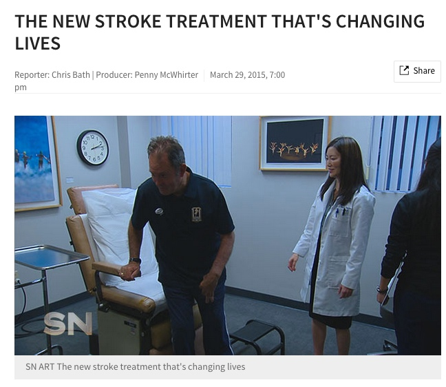 """The New Stroke Treatment That's Changing Lives"" Sunday Night (Australia), March 29, 2015"
