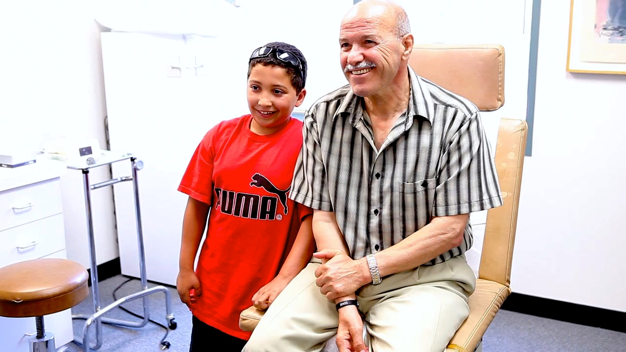 Grandson discusses rapid improvement in grandfather after treatment